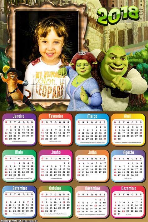 calendario shrek fiona montagem fotos