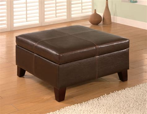 large square leather ottoman 36 top brown leather ottoman coffee tables