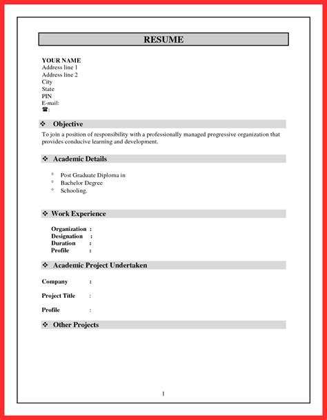 Pdf Or Word For Resume by Resume Formats Word Resume Format