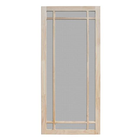 home depot wooden screen doors unique home designs 36 in x 80 in durango unfinished