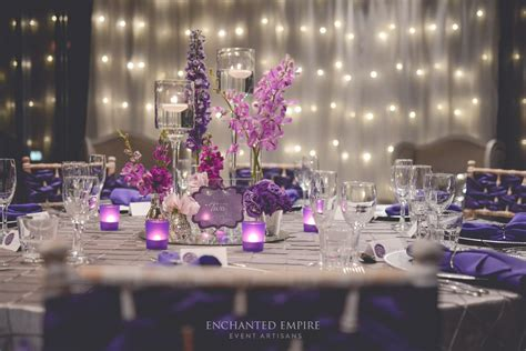 purple silver and white wedding decorations purple silver wedding styled by enchanted empire event artisans