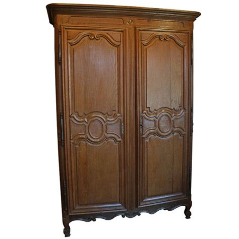 Wood Wardrobes For Sale by Antique Solid Oak Country Armoire Wardrobe