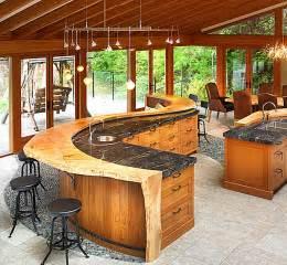 bar ideas for kitchen chunky bar design wood decoist