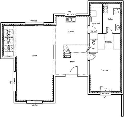 plan de maison contemporaine exemple de maison moderne