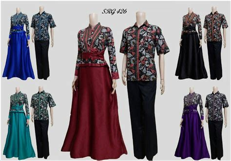 jual baju batik couple sarimbit gamis srg  seragam