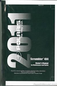 2011 Polaris Scrambler 500 4x4 Atv Owners Manual