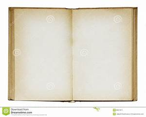 Open Old Blank Book. Stock Image - Image: 8627971