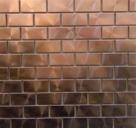 kitchen backsplash panels uk modern twist with 1 quot x 2 quot copper tiles can you say bar