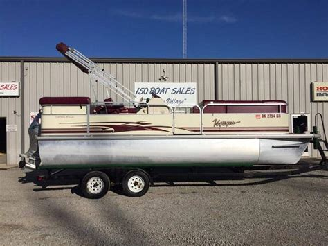 150 Boat Sales In Checotah Ok by 2005 Voyager Pontoons Vexp22c Express Cruise Tritoon 22