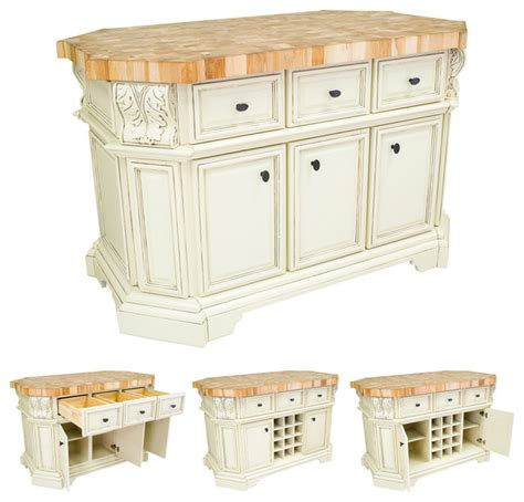 Lyn Design Isl06awh White Kitchen Island Without Top