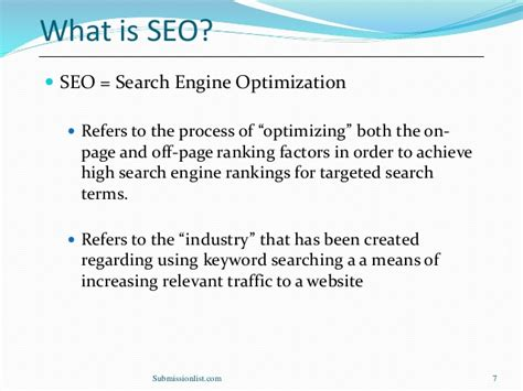 What Is Search Engine Optimization Seo by Search Engine Optimization Seo