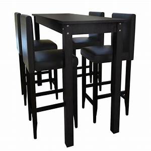 Table Haute 4 Personnes : mesa alta de bar com 4 cadeiras ~ Melissatoandfro.com Idées de Décoration