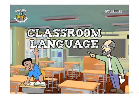 classroom language  worksheet  esl projectable