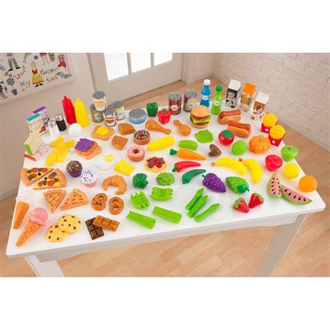 pretend play kitchen accessories kidkraft tasty treats pretend play food set 63330 play 4400