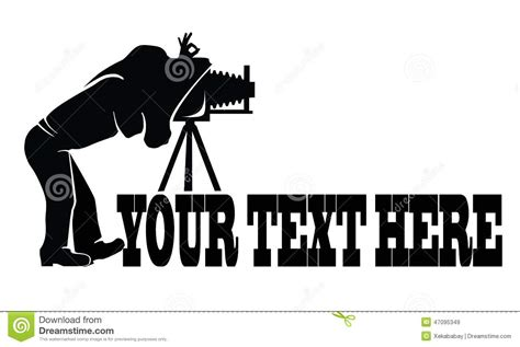 photographer logo stock illustration illustration