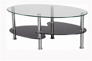 the oval glass coffee table for minimalist home concept With oblong glass coffee table
