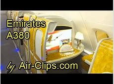 Emirates Airlines A380 Business Class Full Flight + Bar