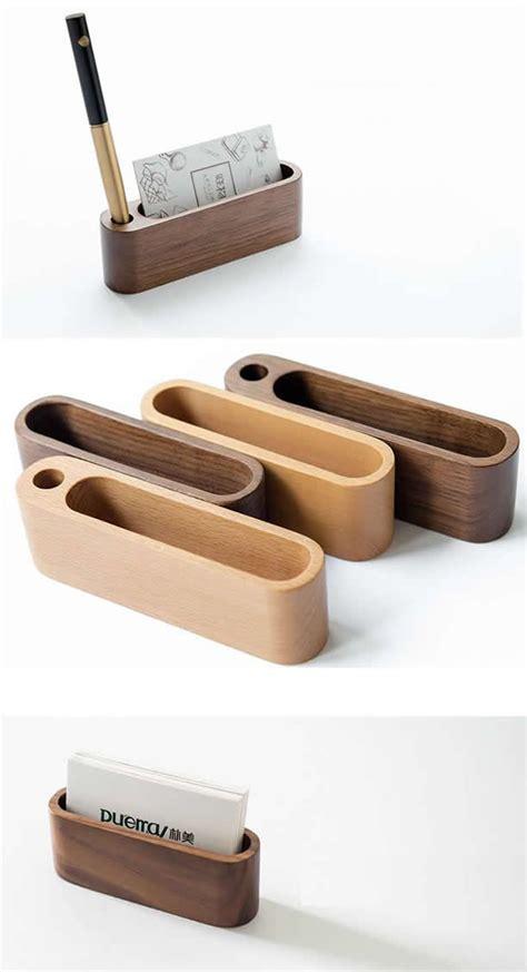 wooden business card holder build   pencil holder
