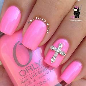 Pink Cross Nails | The Crafty Ninja