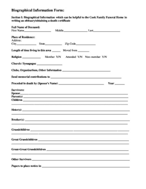 fill   blank obituary template fill