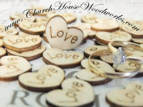 engraved wedding guest book wood engraved hearts confetti for rustic country
