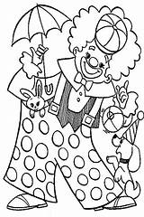Clown Coloring Pages Circus Carnival Animal Colouring Pennywise Playing Popcorn Happy Colorings Getcolorings Printable Colorir Desenhos Para sketch template