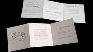 wonderful tri fold wedding invitations theruntimecom With blank tri fold wedding invitations