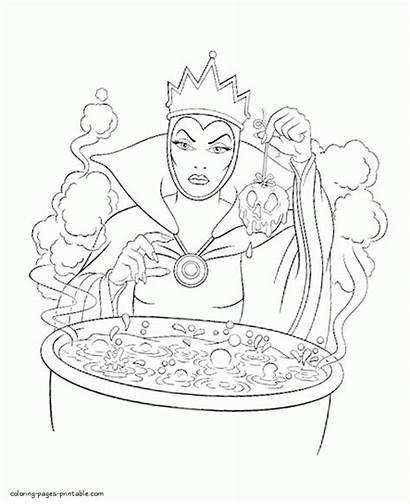 Coloring Evil Queen Pages Disney Villains Printable