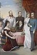Die kaiserliche Familie um 1882. Gruppenporträt mit ...