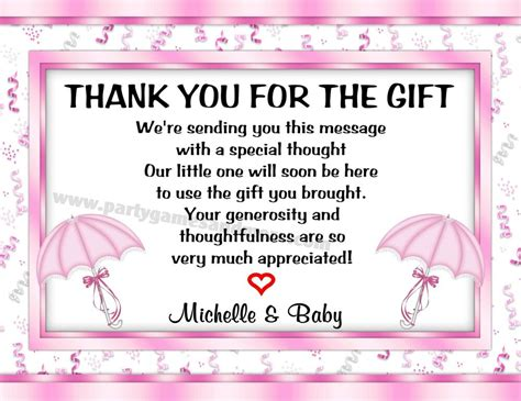 How To Write Thank You Cards For Baby Shower by Unique Personalized Baby Shower Umbrella Invitations