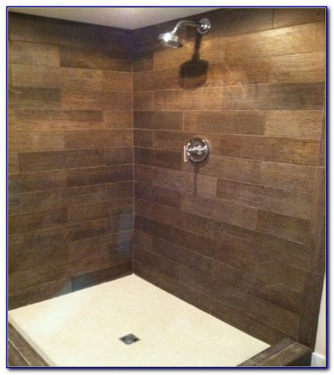 wood grain ceramic tile shower tiles home decorating