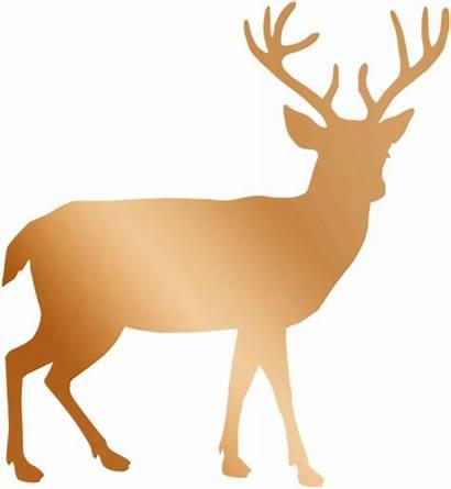 Deer Gold Rose Stag Copper Reindeer Christmas