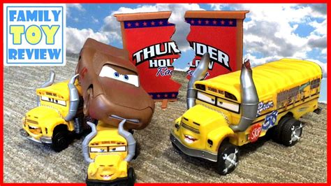 Demolition Derby Cars Toys by Disney Cars 3 Toys Demo Derby Thunder Hollow Story