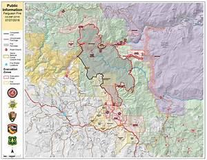 Ferguson Fire Public Information Map For July 27