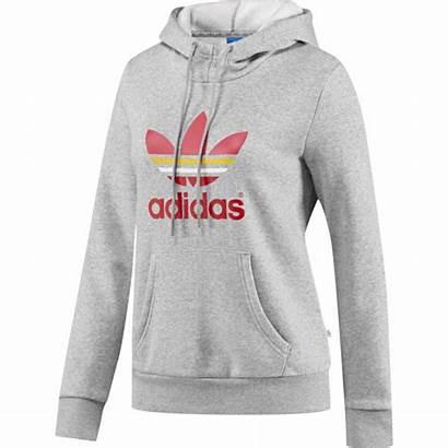 Adidas Trefoil Hoodie Sudadera Grau Pullover Damen