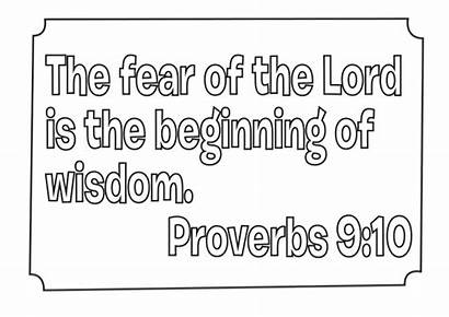 Coloring Proverbs Bible Pages Wisdom Verses Sheets