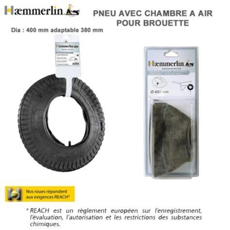pneu et chambre à air pour brouette pneu chambre 224 air diam 400 mm pour brouette haemmerlin
