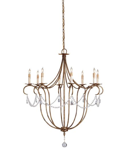Currey And Company 9881 Crystal Lights 31 Inch Wide 8