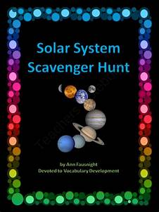 Solar System Scavenger Hunt from Devoted to Vocabulary Dev ...