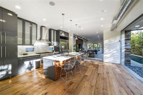 modern kitchen floors hardwood floors in the kitchen pros and cons designing 4216