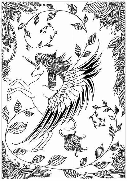 Licorne Unicorni Colorare Coloriage Disegni Colorear Licornes