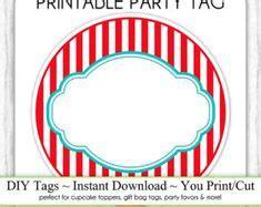 printable circus  tags  template