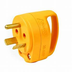Camco 30 Amp Powergrip Replacement Male Plug-55283