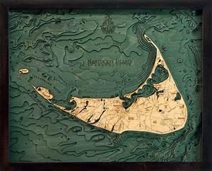 Great Straits Chart Nantucket Island Nautical Topographic Art Bathymetric