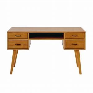 Schreibtisch Mit Schubladen : vintage schreibtisch mit 4 schubladen dean maisons du monde ~ Frokenaadalensverden.com Haus und Dekorationen