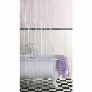 Rideau De Baignoire Leroy Merlin : rideau de douche en plastique transparent x cm ~ Dailycaller-alerts.com Idées de Décoration