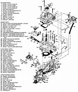1983 Chevy S10  Diagram  2 8 Carburetor With Part Names