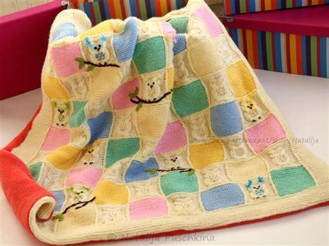 decke stricken oder häkeln eulen decke stricken strickmuster baby decke
