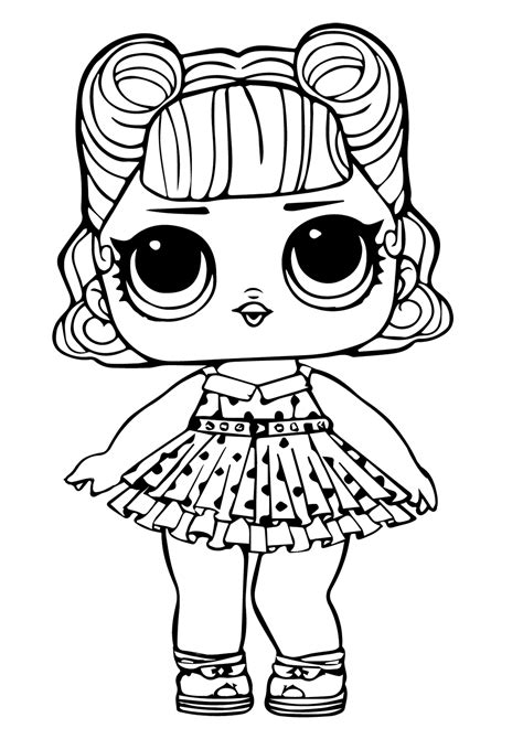 lol surprise doll coloring page jitterbug coloring kids