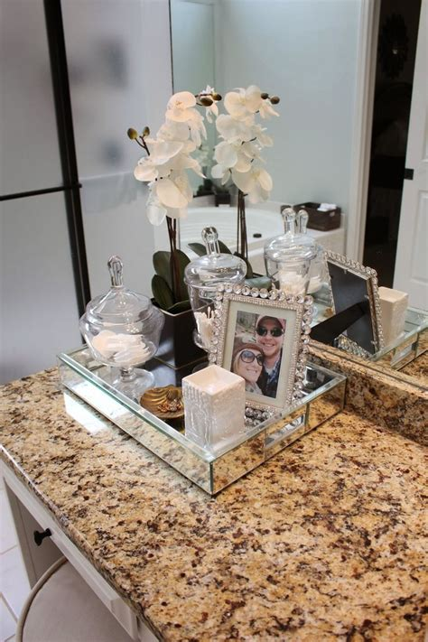 bathroom vanity tray ideas  organizing   sleek